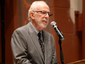 "Richard Slotkin, the Olin Professor of American Studies, Emeritus, delivered the keynote address titled ""Open Season: The Gun Rights Movement and American Political Culture."" Slotkin discussed the current struggle over firearms legislation and how it has been shaped by a political movement, which links a radical understanding of ""gun rights"" to the agendas of American conservatism."