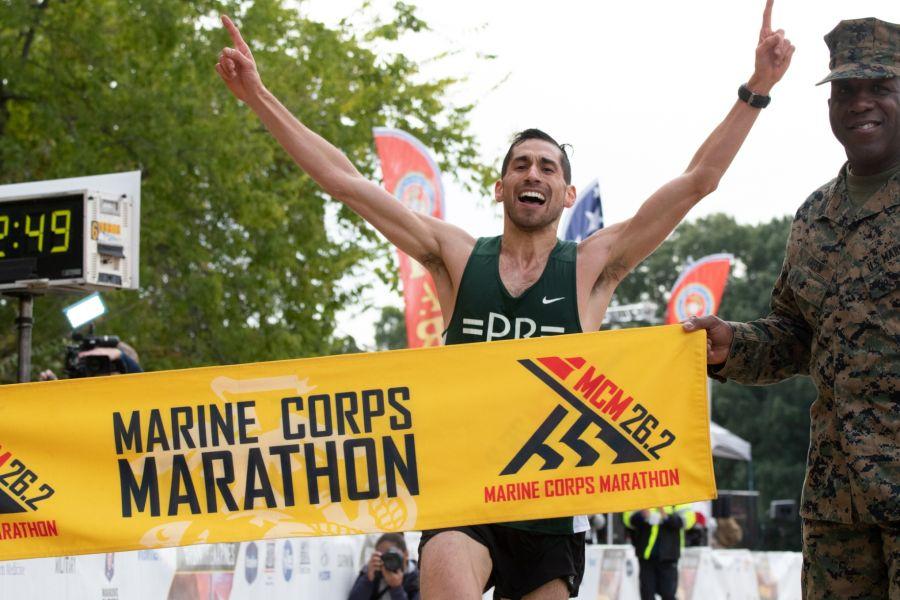 Stein '08 wins Marine Corps Marathon