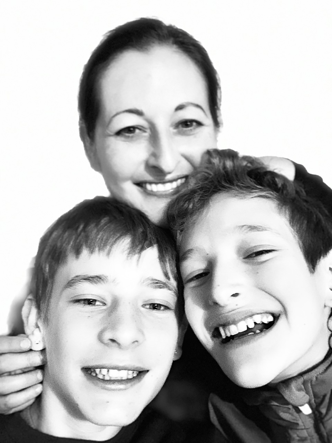 Anna Shusterman with her sons Max and Reuben