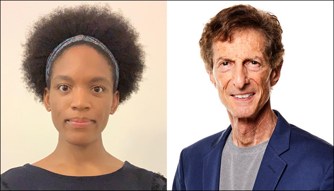 Zoe Garvey '20 and Dr. Abel